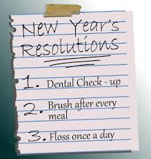 New years resolutions: floss daily